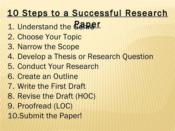 Steps for Research