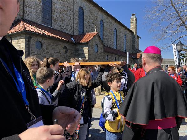 Students March with the Bishop